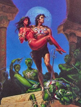 John Carter of mars -the book cover on my first Barsoom Paperback.