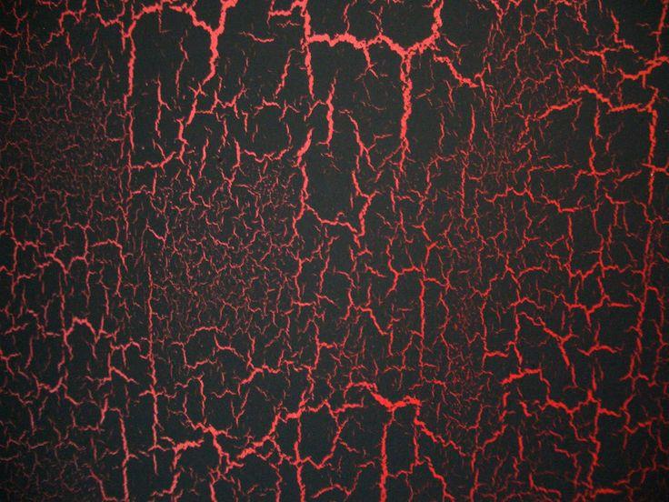 black and red crackle furniture | Crackle bookshelves
