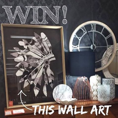 Don't forget entries close 11:59pm tonight to WIN our Indian headdress wall art pictured here. To enter all you need to do is: 1. Follow @ozdesignfurniture 2. Repost this image to your feed 3. Hashtag #ozdesigngiveaway 4. Tag a friend who would love OZ Design and to win also Good luck !!! Terms & conditions: Strictly 1 entry per person for Australian residents only. Entries close Saturday 8th August 11.59pm. Winner announced on Monday 10th August. Prize to be sent within 14 working days of…