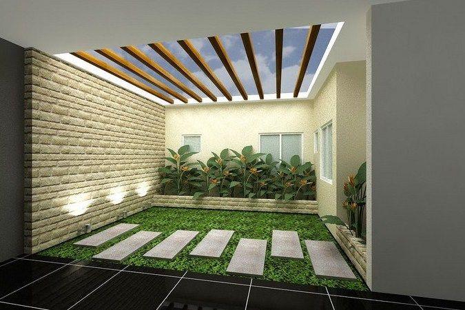 Desain Taman Kecil Dalam Rumah Desain Rumah Mesra