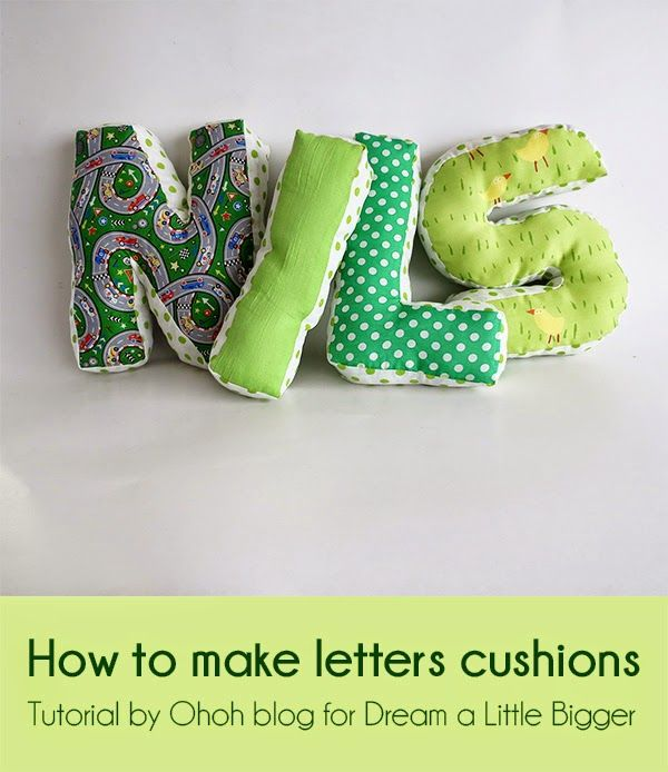 Ohoh Blog : How to make letters cushions - diy cushion - sewing tutorial