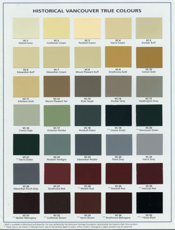 Vancouver Heritage Foundation True Colours Palette Nesting Pinterest Heritage Foundation