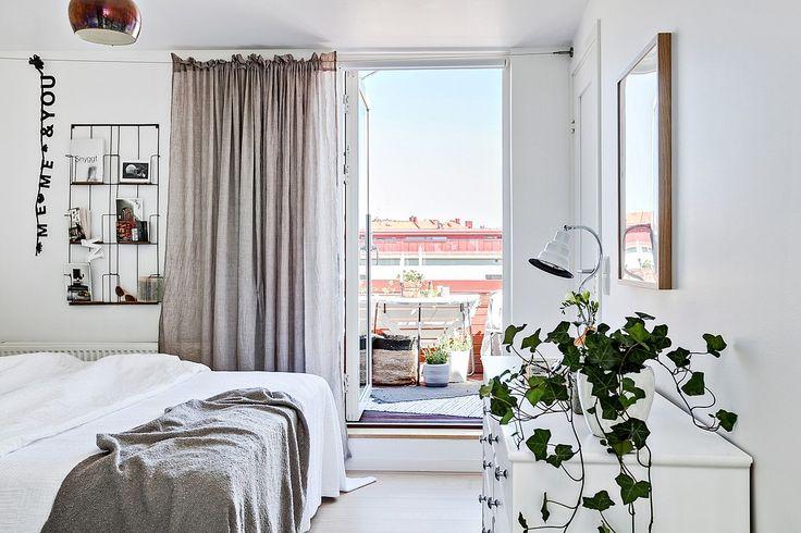 Badrum Comfort Södermannagatan : Interiörbild sovrum u bäddningar