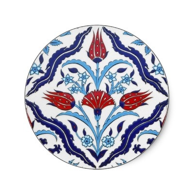 Turkish tile Round Sticker $6.85