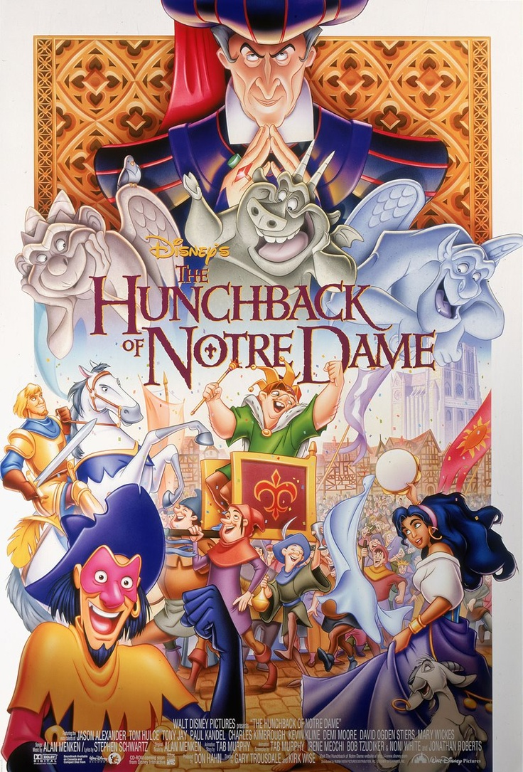 Walt Disney, Disney Film, Disney Animal, Comics Book, Notredame, Disney Movie Posters, Hunchback, Dame 1996, Our Lady