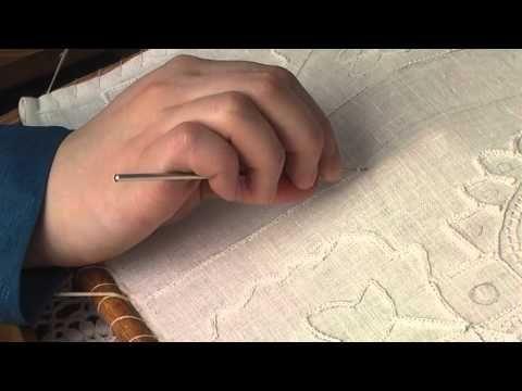 Вышивка. Шов «Тамбур» |      Традиционные ремёсла и хозяйство |     Музей-заповедник «Кижи»