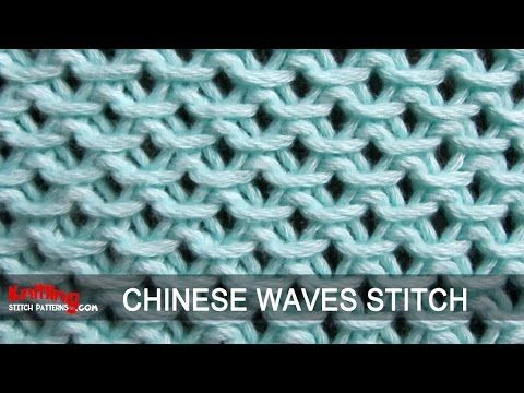 Knitting Stitches Waves : Knitting Stitch Patterns: Chinese Waves Knits Pinterest Knitting stitch...