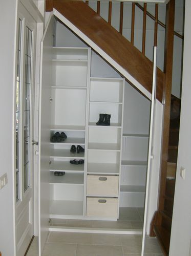 Made to fit staircase cabinet