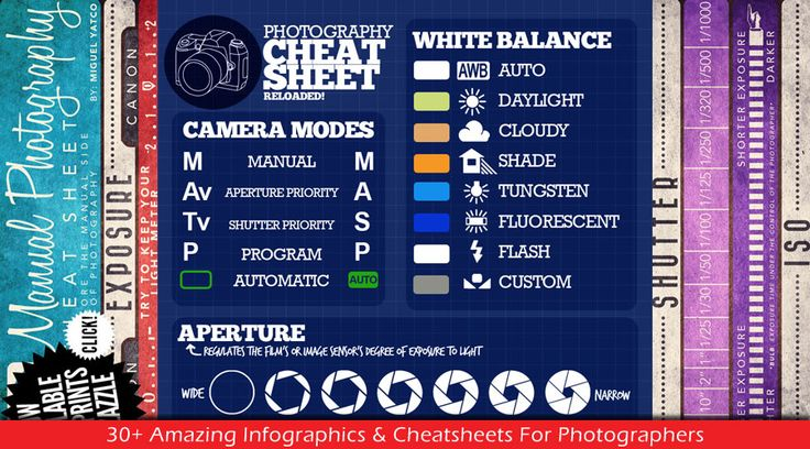 30+ Amazing Infographics & Cheatsheets For Photographers