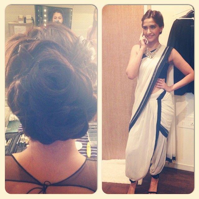 The stunning @Sonam Kapoor in tarun tahiliani .
