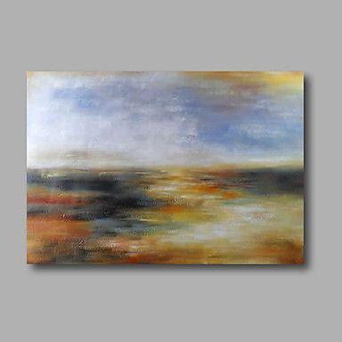 pronto para pendurar a pintura a óleo pintados à mão esticada na parede de lona de arte abstrata contemporânea luz azul cinza de 4644391 2016 por R$224,75