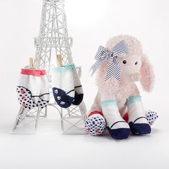 Poodle Paws Plush Poodle |Socks