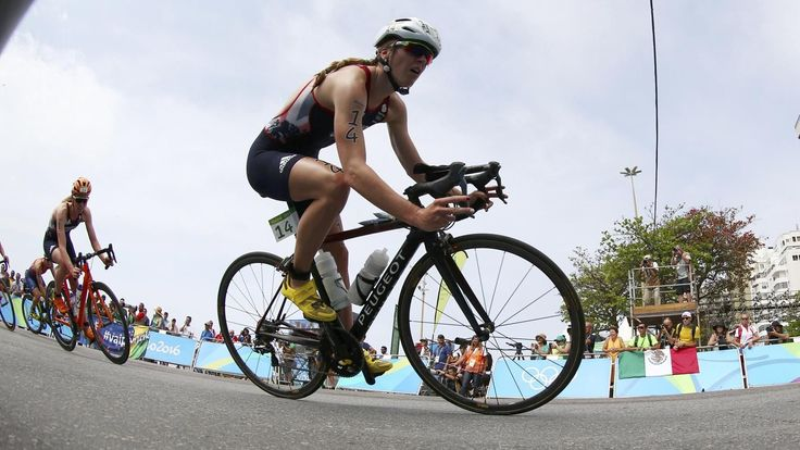 GB's Vicky Holland takes bronze in triathlon sprint finish against team-mate Non Stanford