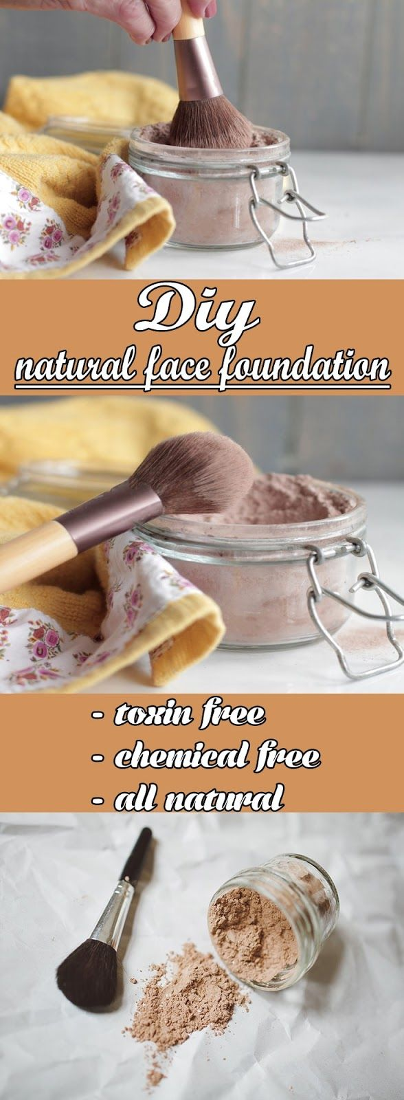 Natural Face Foundation All Natural And Chemical Free. Make one for yourself now.  #face #foundation #diy