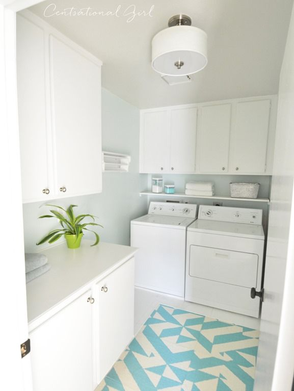 budget friendly laundry room makeover with @BHGLiveBetter + @centsationalgrl