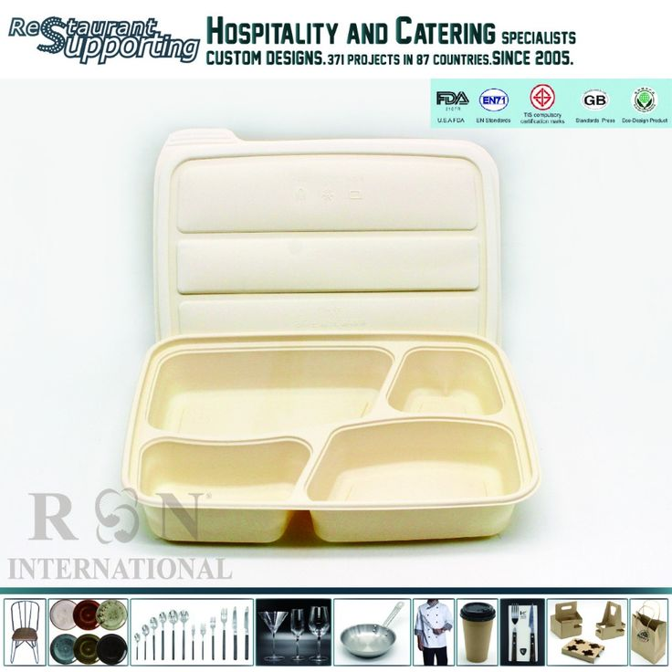 Rongroup restaurant microwave 1080ml disposable 4 compartment lunch box, Whatsapp/wechat:+8618923296530,https://restaurantsupporting.en.alibaba.com