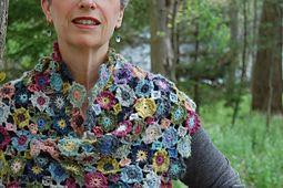 Ravelry: Crocheted Flower Shawl pattern by Kathleen Gittleman
