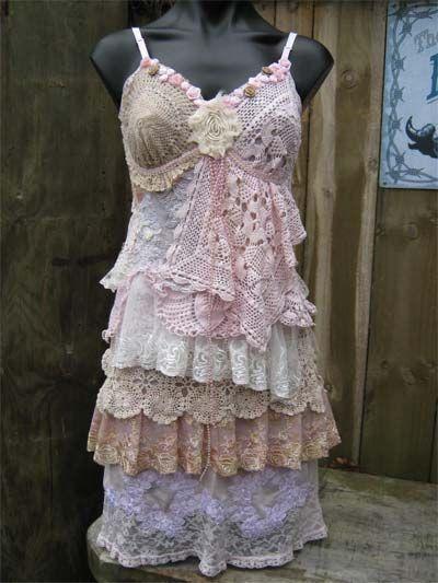 Lace doily dress