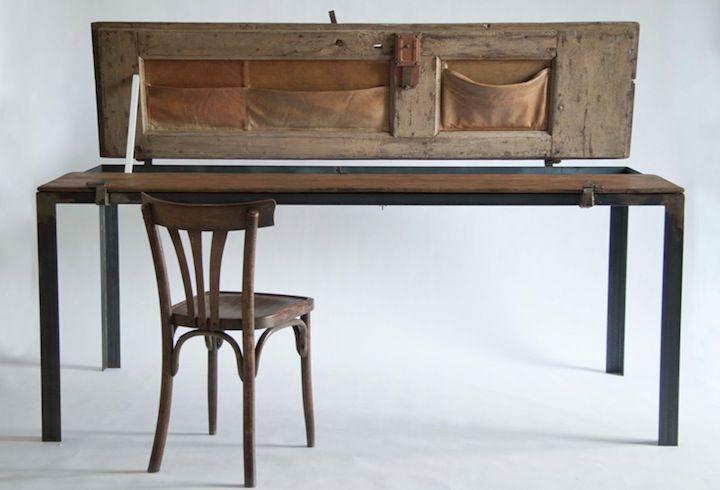 Recycled door table // Manoteca