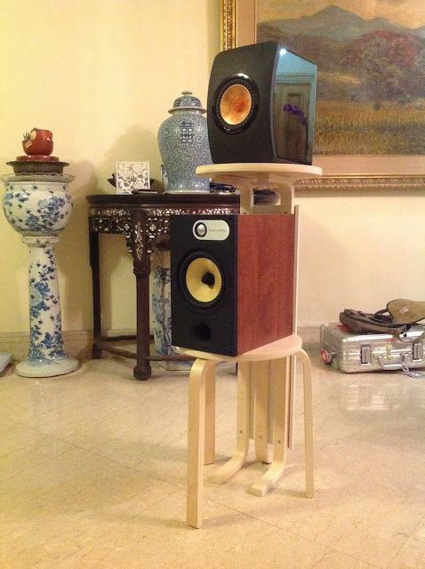 Frosta Dual Speaker Stands / Bar table - IKEA Hackers
