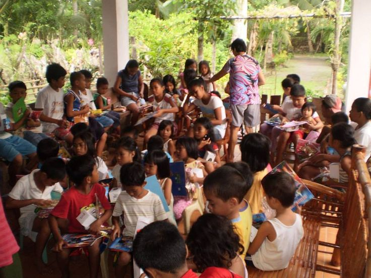Attending a Bible lesson before eating is mandatory at the Global Family Outreach Ministry Feeding Programs.