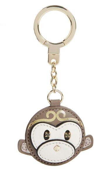 kate spade new york leather monkey bag charm available at #Nordstrom. Would be cute on my car keys.