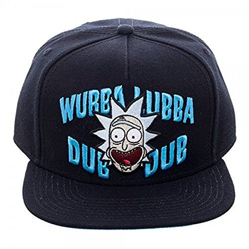 Cap design features Rick and Morty embroidered on a high quality Flat Bill Snapback Cap. - Officially Licensed Rick And Morty Product - Adjustable Flat Bill Snapback Hat - Look good getting schwifty w