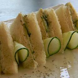 Tea Cucumber Sandwiches #vintage #recipe