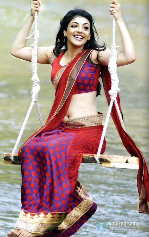 kajal navel show 586x928 Kajal Agarwals Voluptuous Diwali Treat
