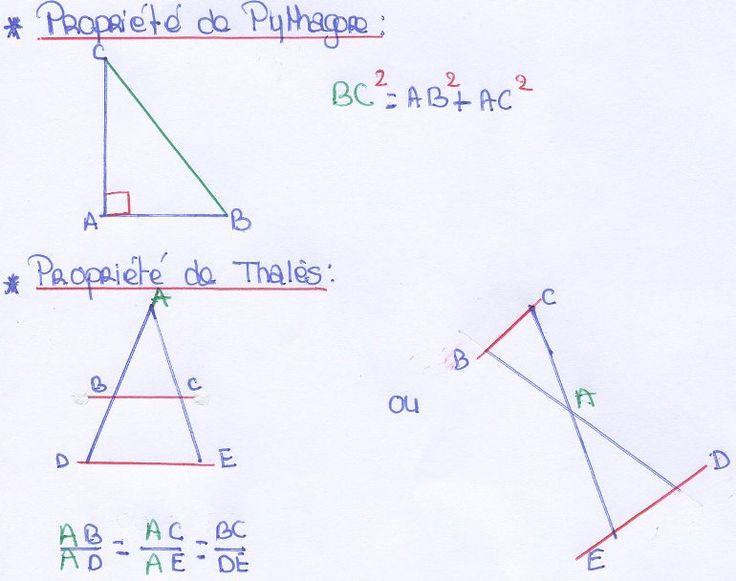 Fiche de révision du brevet : toutes les formules à connaître en math - Collège Pierre Perret