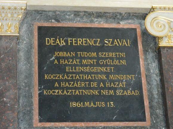 Deák Ferencz szavai (Fotó: Bódi Ágnes)