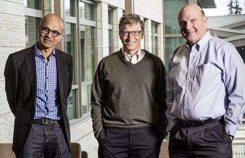 Incredible Trio: Satya Nadella - Bill Gates - Steve Ballmer