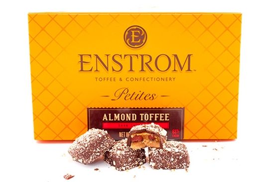 Kasia's favorite winter treat! Almond Toffee from Enstrom! #AugustLA #StaffPicks #FavoriteThings #Snacks #Treats #Enstrom #toffee #chocolate