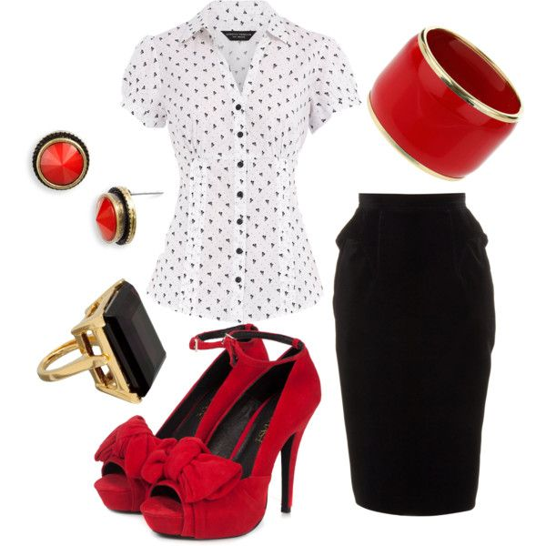 I actually have an outfit like this, and I looooove wearing it! Funny thing is, when I wear this, every elevator & door is held open for me and the men that I work with always stand up when I walk up to their desk or from the conference room table. It makes me feel very Joan Holloway...