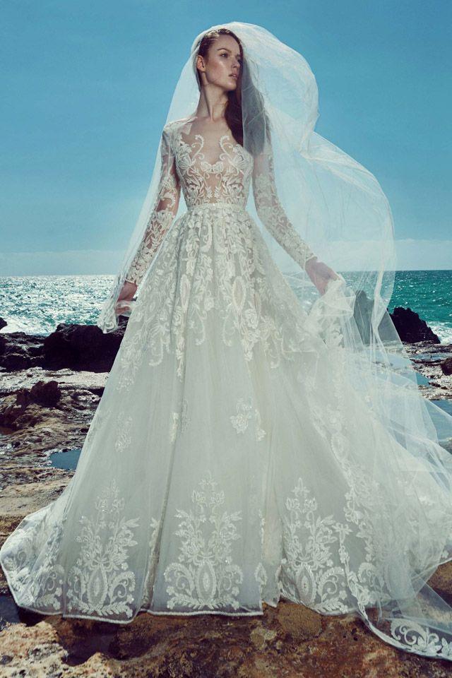 Fashion Friday: Zuhair Murad Bridal Spring 2017 | Traditional | Conservative | Sensual | Embroidery | Tulle | Dreamy | http://brideandbreakfast.hk/2016/06/10/zuhair-murad-bridal-spring-2017/