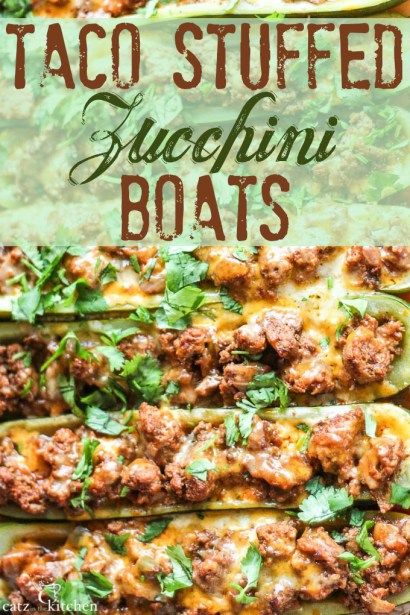 Taco Stuffed Zucchini Boats - Catz in the Kitchen