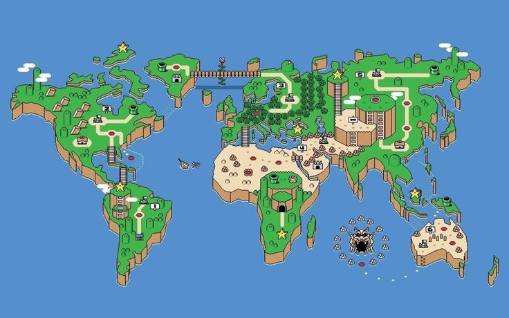 8 bit map - can be used for art design references in map design