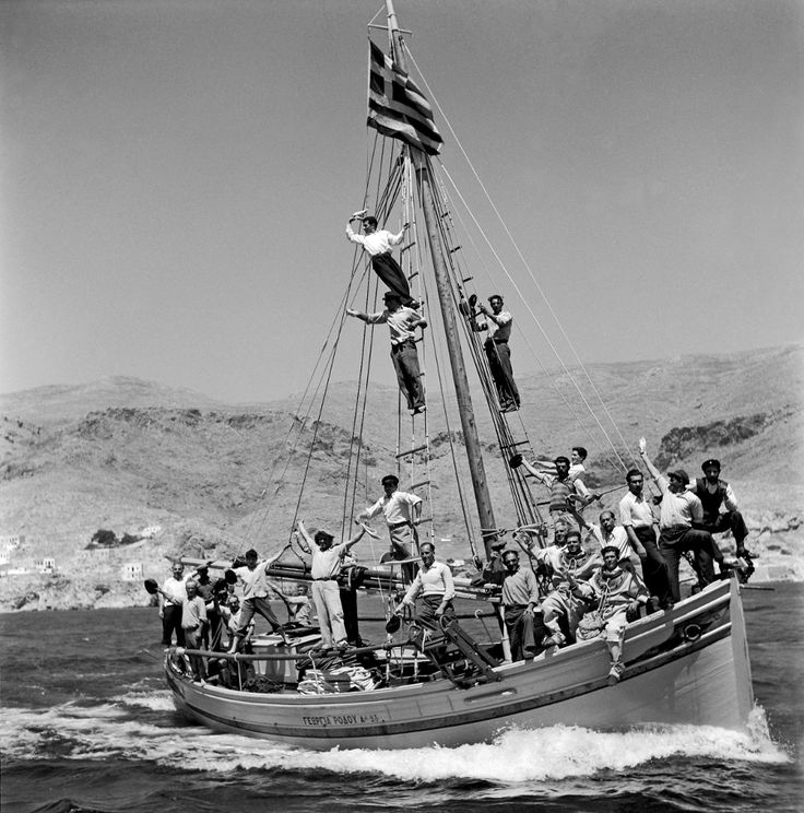 Vintage Greece... In the boat...