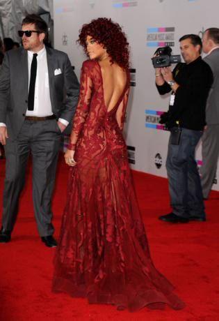 Gorgeous Red Carpet Dresses | Rihanna Red Dress #Rihannas Ellie Saab Designed Dress on Red Carpet at ...