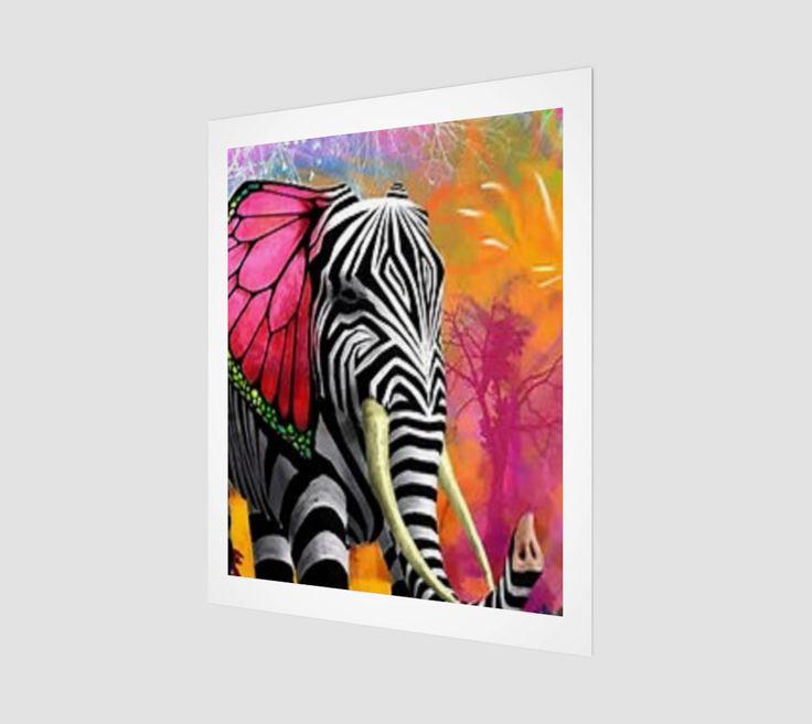 """Art+Print+""""Painted+Elle""""+by+Islandfree"""