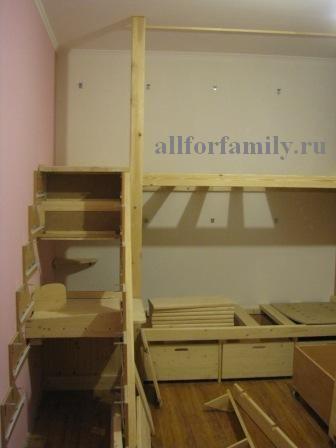 двухъярусная кровать из дерева своими руками - ход работы, фото 2