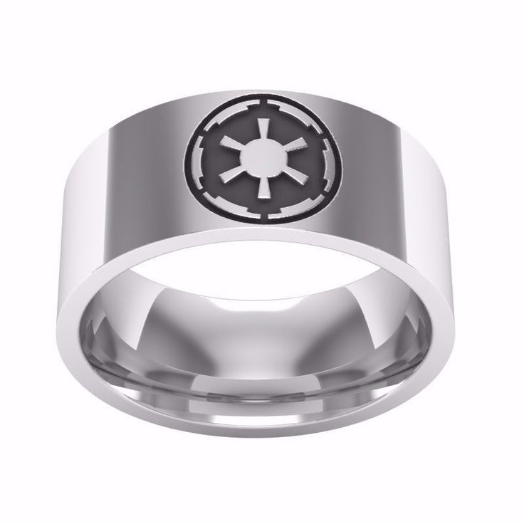 GALACTIC STAR WARS EVIL EMPIRE OLD EMPIRE THE NEW ORDER DESIGN RING STEEL SIZES #L2D #BANDRING