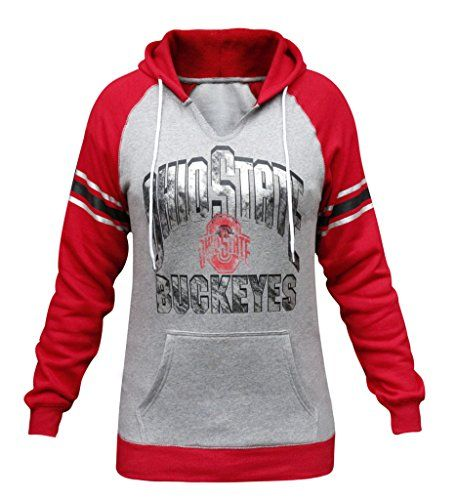 Women's Athletic Hoodies - Womens Ohio State Buckeyes Fleece Athletic Hoodies Sweatshirts  Grey  Red >>> Want additional info? Click on the image.
