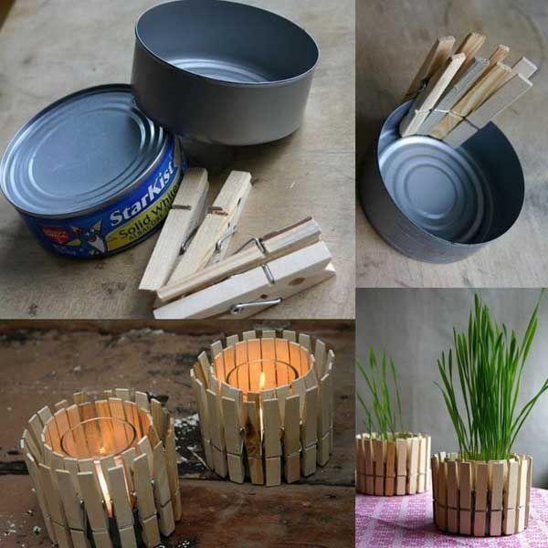 Pomysł na świecznik ze spinaczy - instrukcja