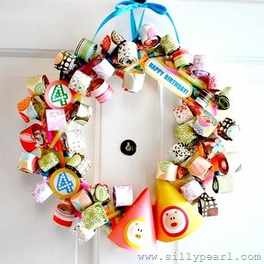 Party Blower Birthday Wreath by The Silly Pearl