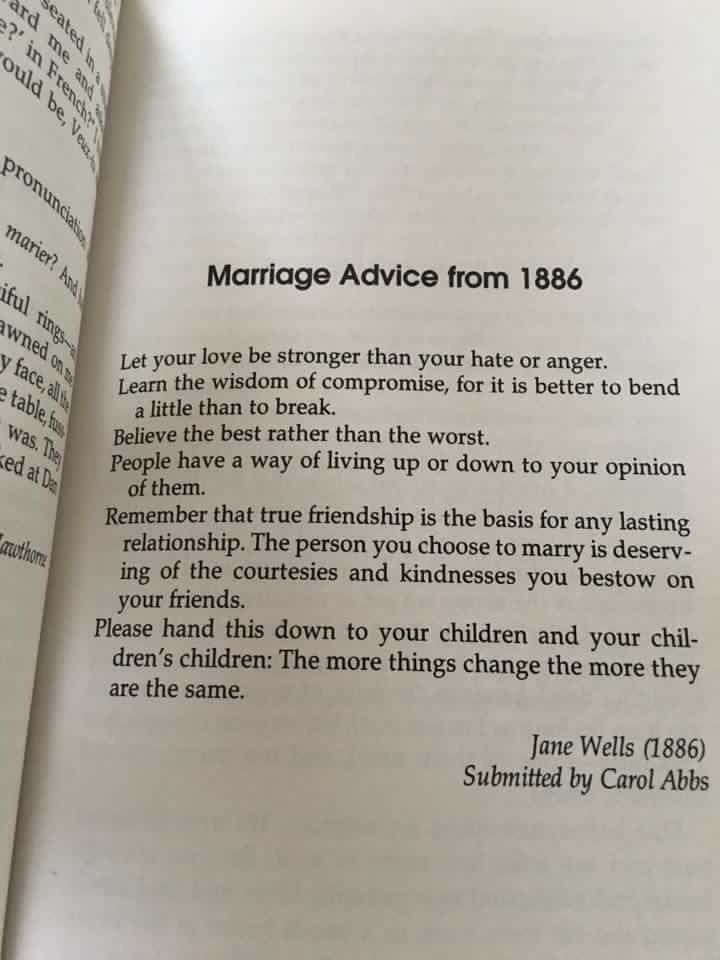 'BELIEVE THE BEST RATHER THAN THE WORST'  Marriage advice from 1886