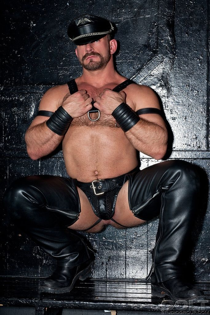 mature gay leather