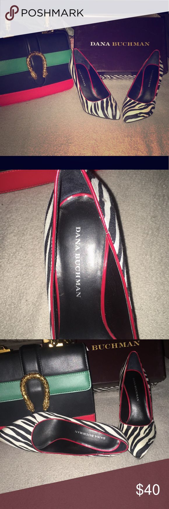 Dana Buchman Katerina Zebra Heels For all you animal print lovers out there you guys will love these cute never worn Dana Buchman Katerina Zebra Heels.  New still in box Size 7.5 Smoke free home Dana Buchman Shoes Heels