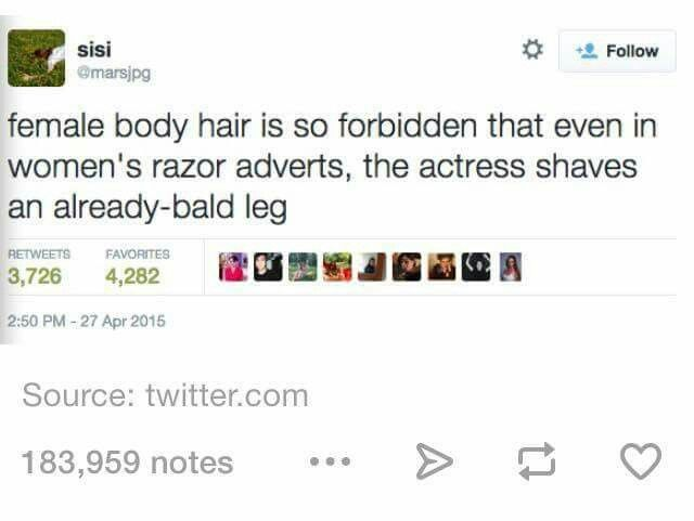 So true and ingrained that I hadn't even realised it! Yet a men's razor ad the guy actually has a beard!