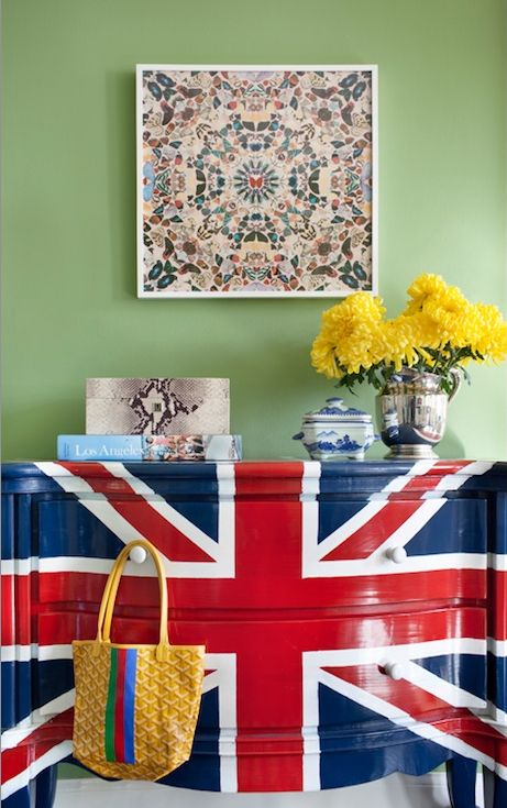HAVE to do this for my dressers!! Just to add to my british themed room!!!